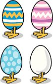 Great illustration of an Egg with chicken feet at the bottom. Perfect for a farming or Easter illustration. EPS and JPEG files included. Be sure to view my other illustrations, thanks!