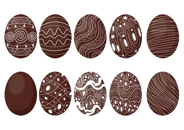 ilustrações de stock, clip art, desenhos animados e ícones de easter egg chocolate and milk design on white background illustration vector - meat texture