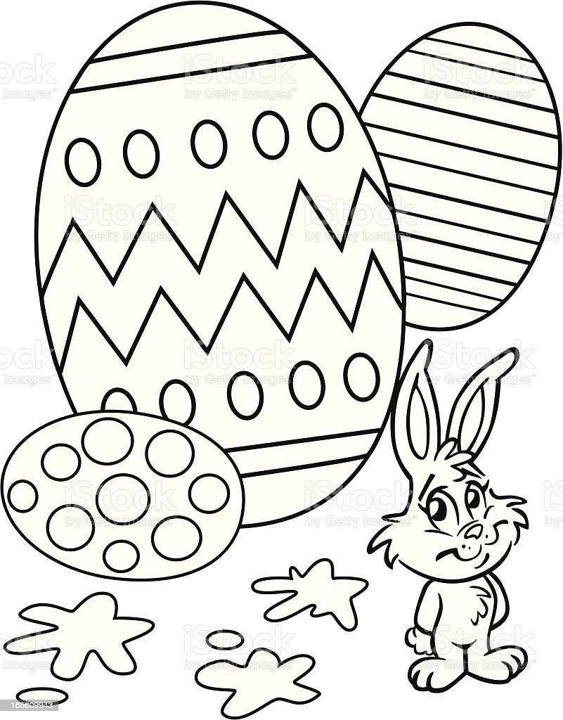 Easter Egg Coloring Book Page Stock Illustration - Download Image Now