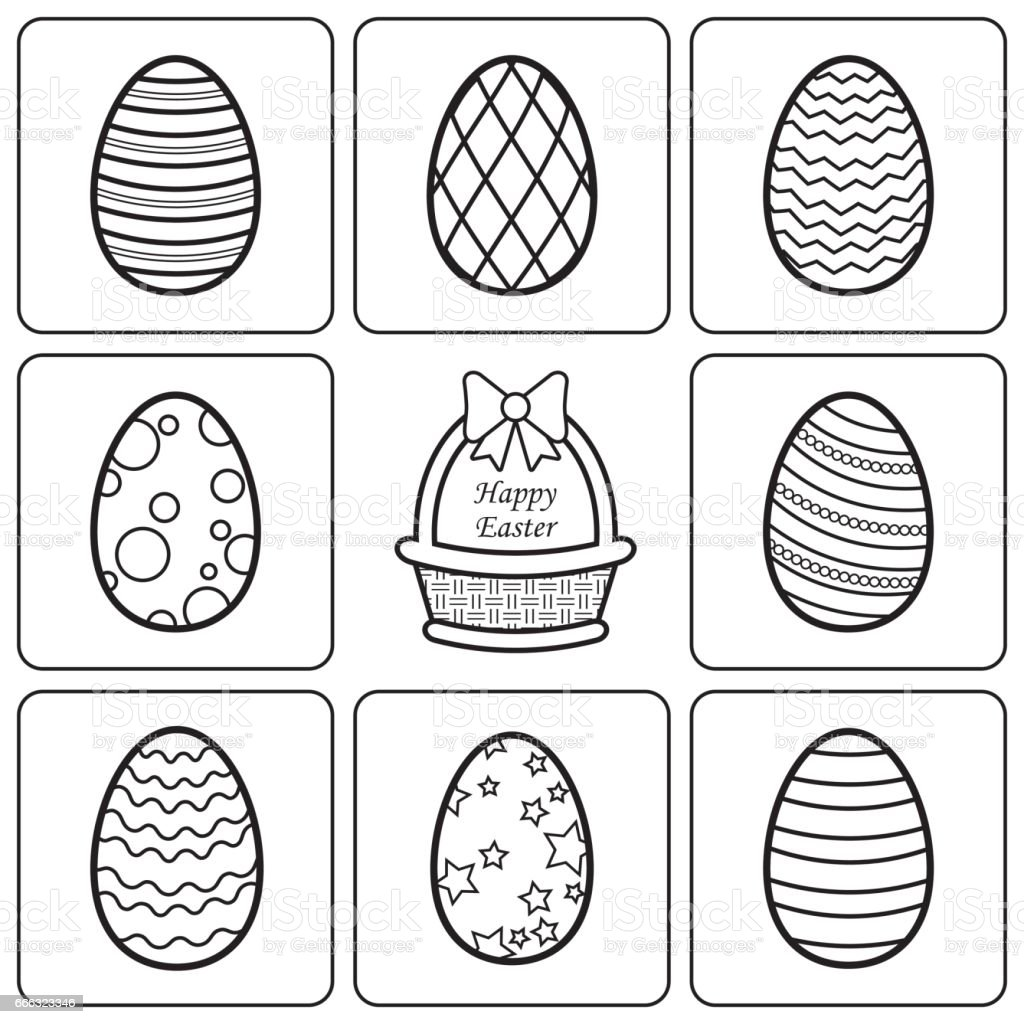 Easter Egg Coloring Book Stock Illustration - Download Image Now - IStock