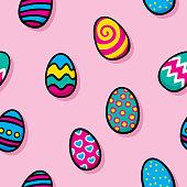 istock Easter Egg Doodles Pattern 1272871558