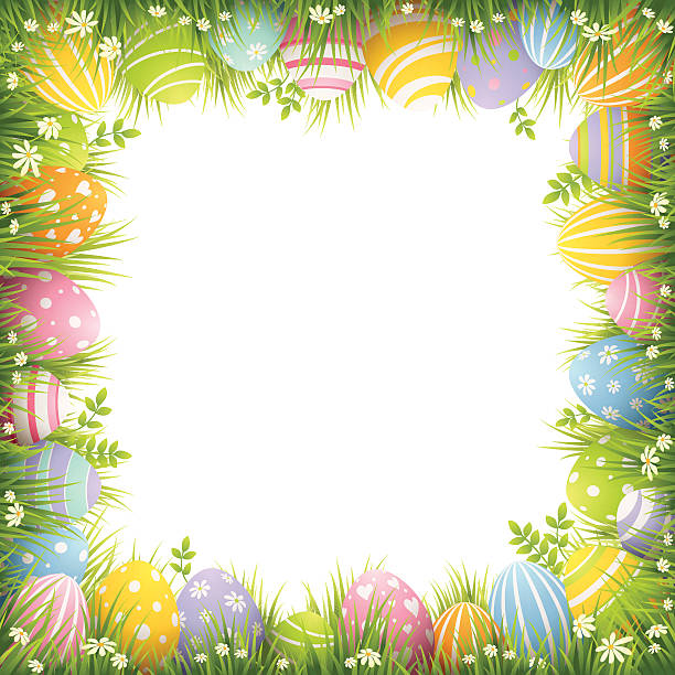 Best Easter Border Illustrations, Royalty-Free Vector ...