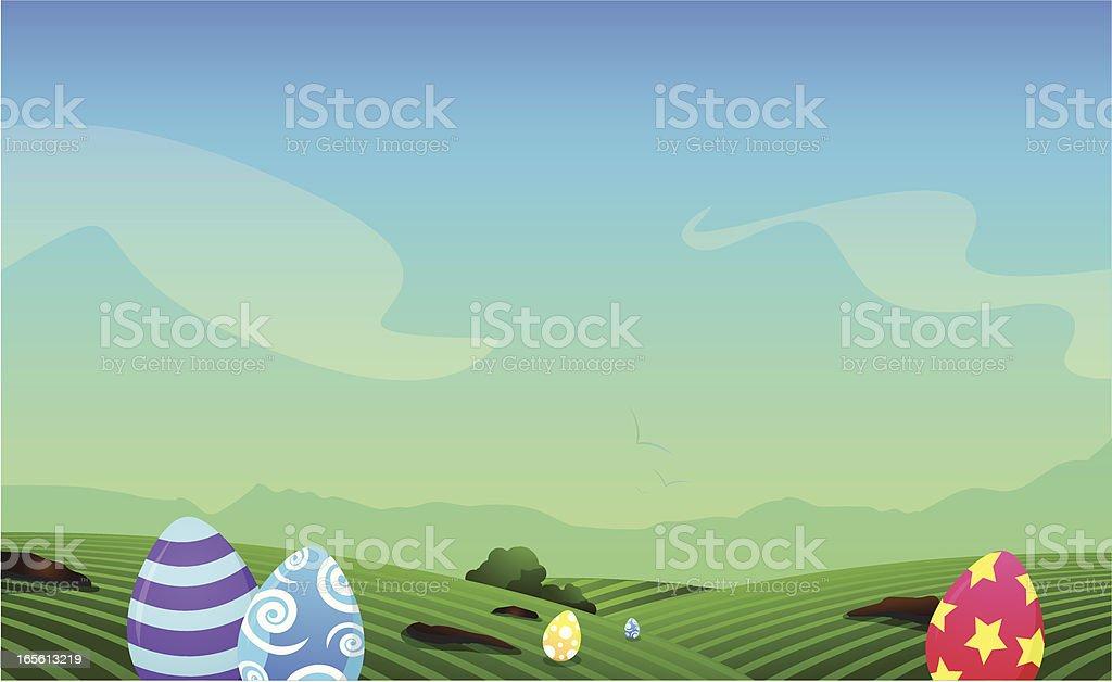 easter egg hunt background royalty free easter egg hunt background stock vector art