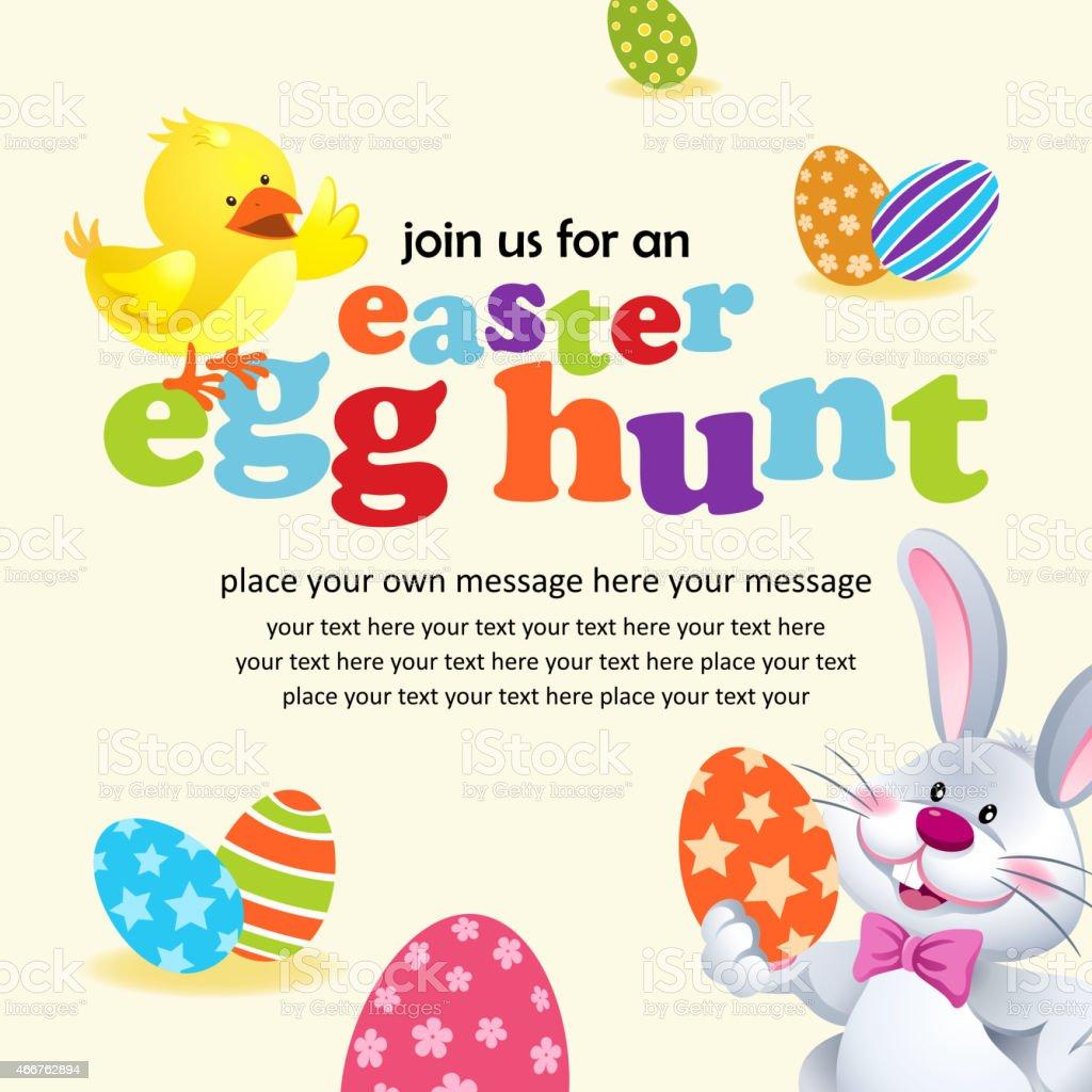 Easter Egg Hunt Invitation vector art illustration