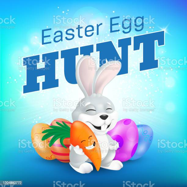 Easter egg hunt party flyer or banner template cute sitting and vector id1204880772?b=1&k=6&m=1204880772&s=612x612&h=ehawxfrcg42pkshik63zm5uv6jcbty7dkxn2byiydpw=