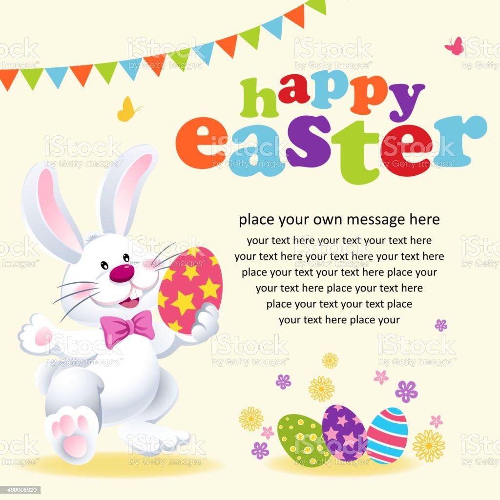 Easter Egg Hunt Party Notice vector art illustration