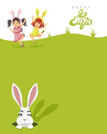Easter Egg Hunt Party Poster.