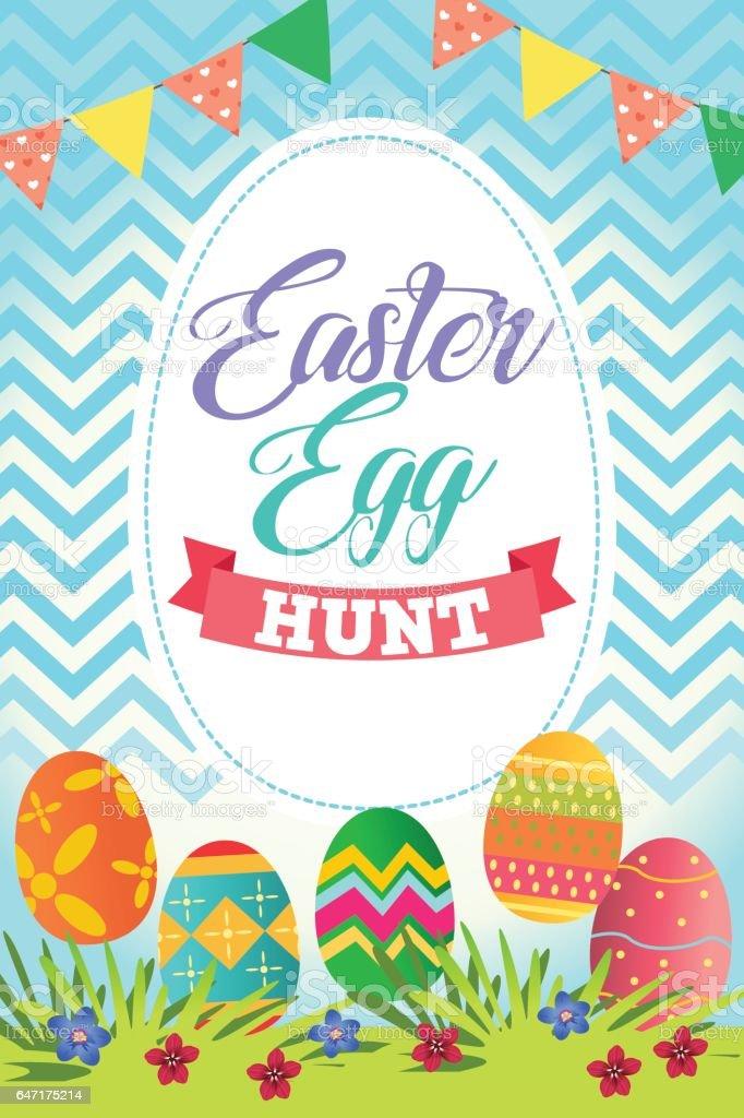 Easter Egg Hunt Poster vector art illustration