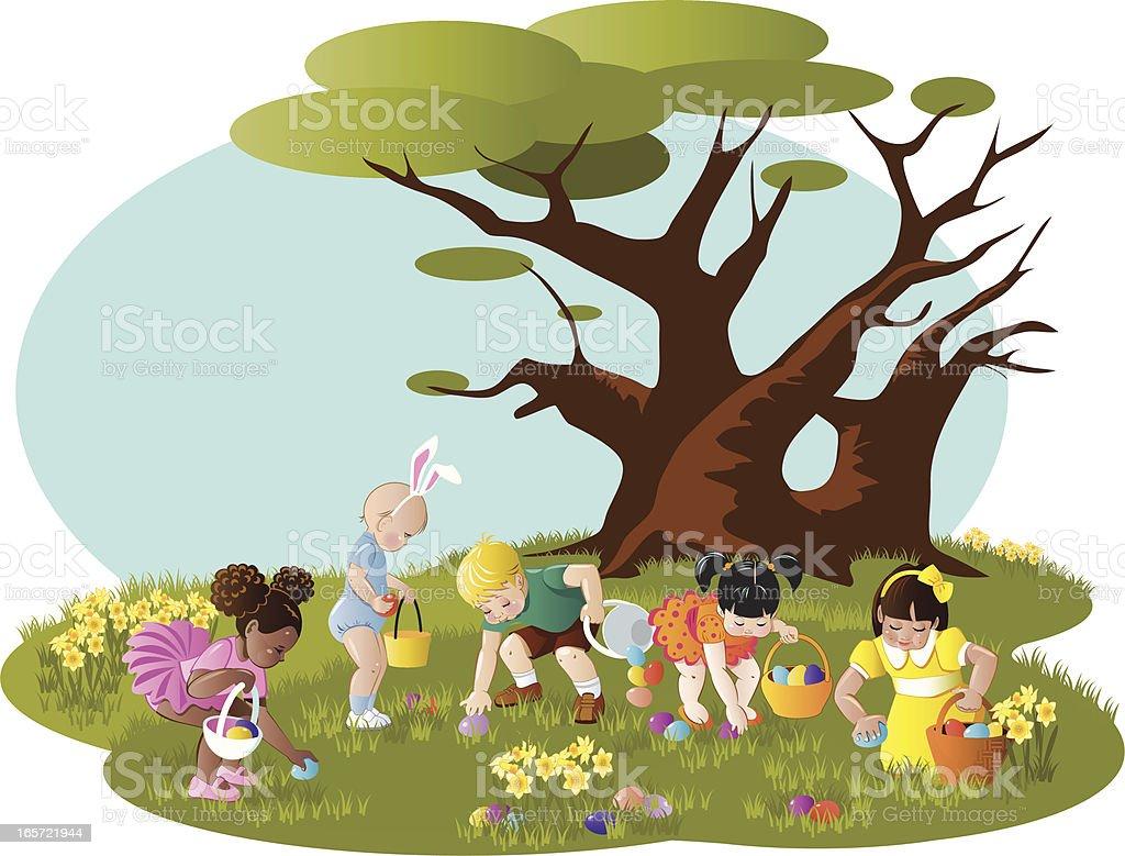 Easter Egg Hunt royalty-free easter egg hunt stock vector art & more images of basket