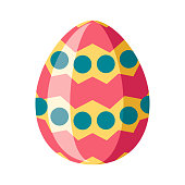 istock Easter Egg Icon on Transparent Background 1283086118
