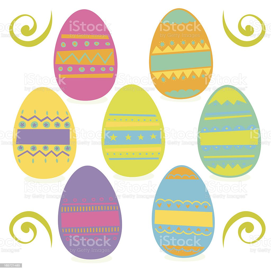 Easter Egg icons royalty-free stock vector art