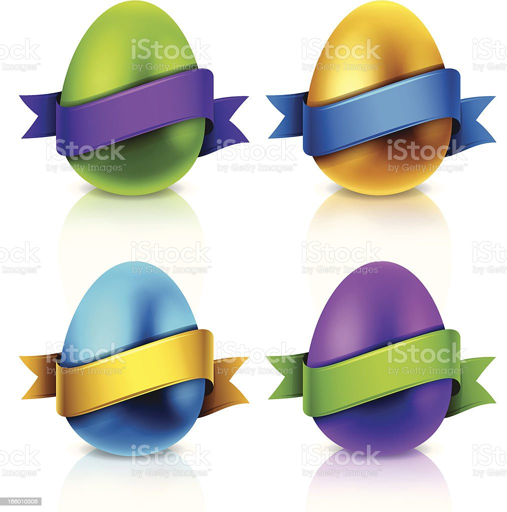 Easter Egg Messages royalty-free stock vector art