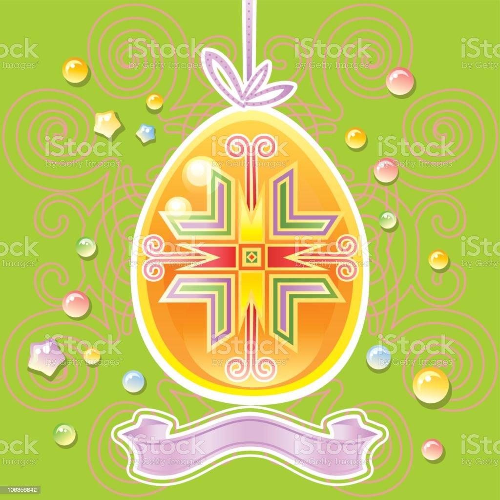Easter egg on elegant background royalty-free easter egg on elegant background stock vector art & more images of animal egg