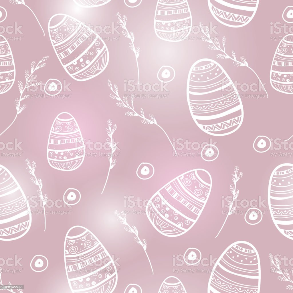 Easter egg seamless vector pattern. royalty-free stock vector art
