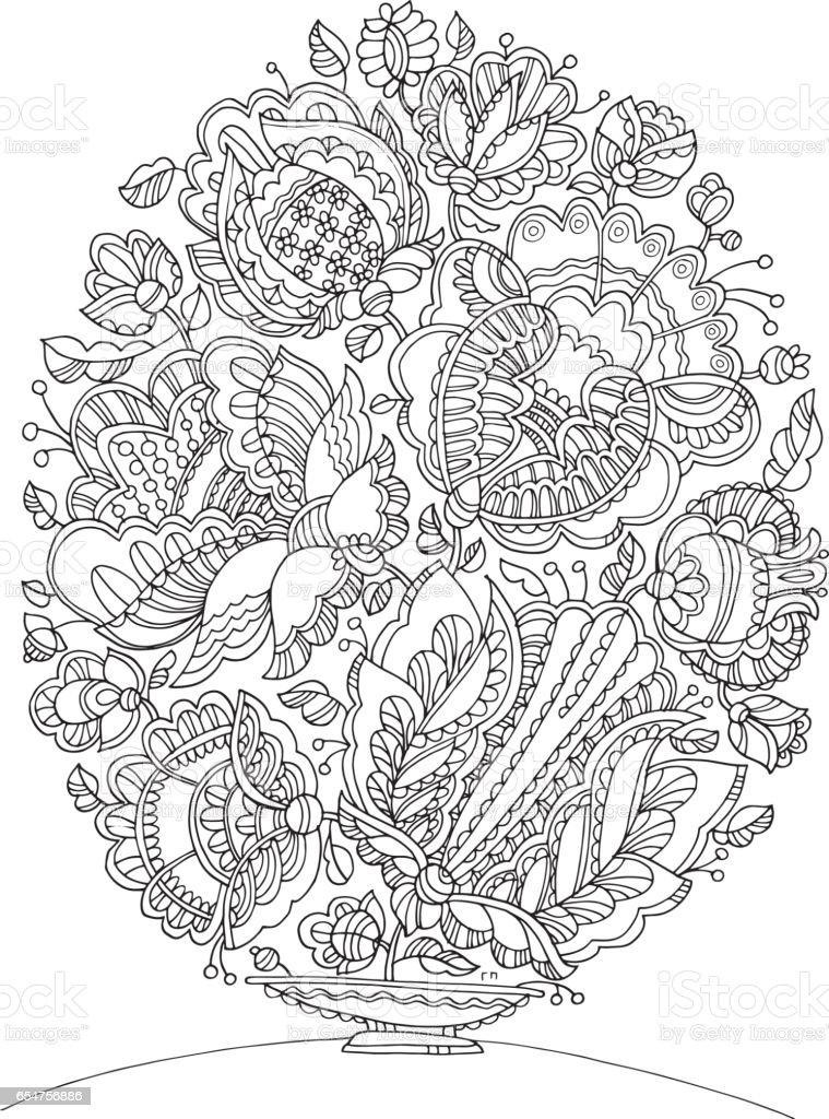 Ilustración de Imagen De Forma De Huevo De Pascua Para Colorear ...