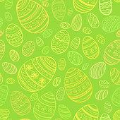 Easter Egg. Vector seamless pattern EPS 10