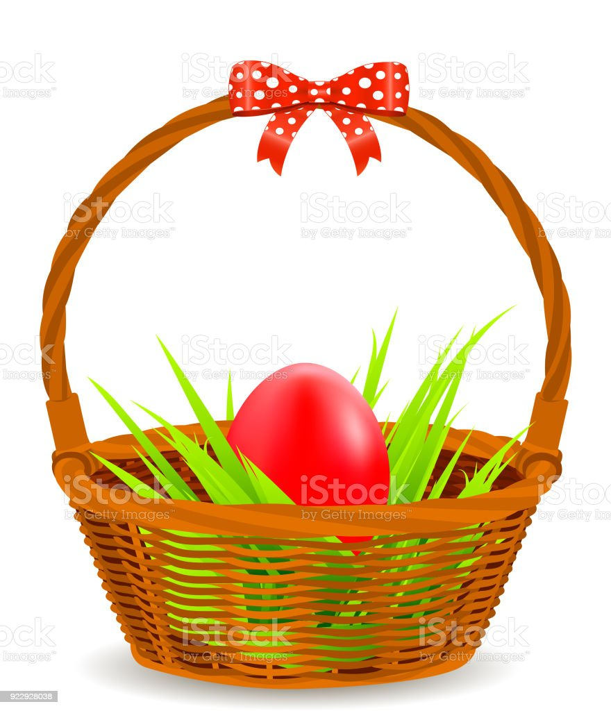 Easter egg with basket stock vector art more images of animal egg easter egg with basket royalty free easter egg with basket stock vector art amp negle Images