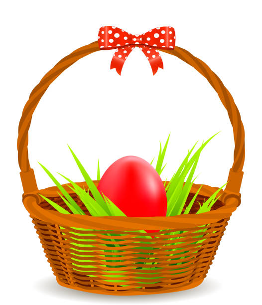 Royalty free empty easter basket clip art vector images easter egg with basket vector art illustration negle Gallery
