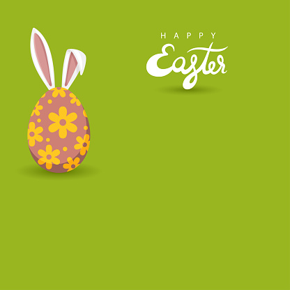 Easter egg with bunny ears.