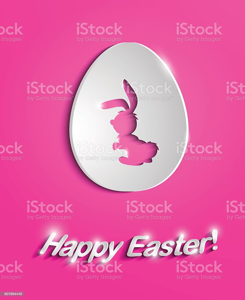Easter egg with bunny silhouette royalty-free stock vector art