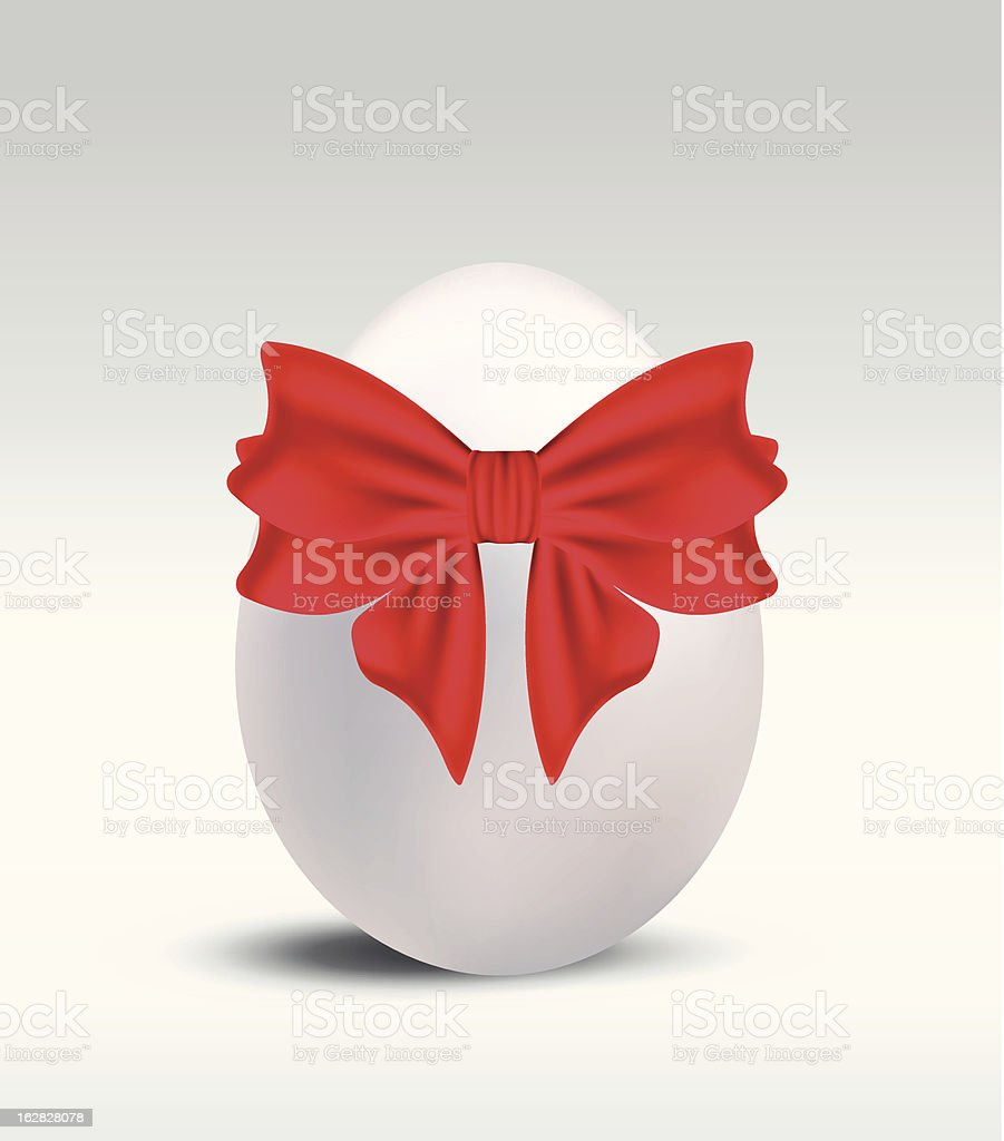 Easter egg with red bow vector illustration royalty-free easter egg with red bow vector illustration stock vector art & more images of animal egg