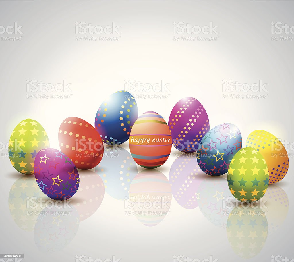 Easter Eggs Background. royalty-free easter eggs background stock vector art & more images of abstract