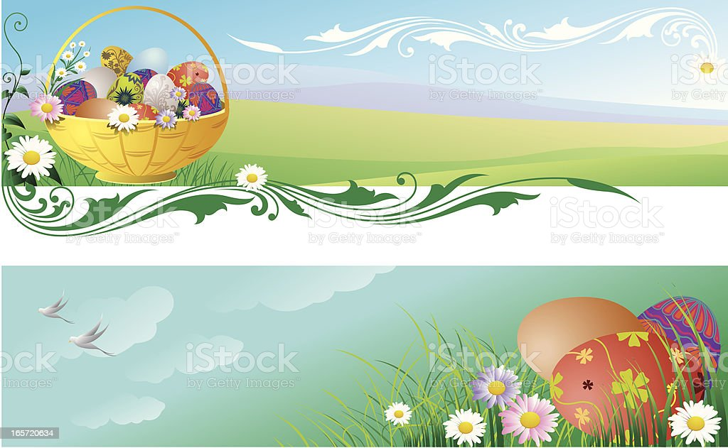 Easter Eggs Banners royalty-free easter eggs banners stock vector art & more images of backgrounds