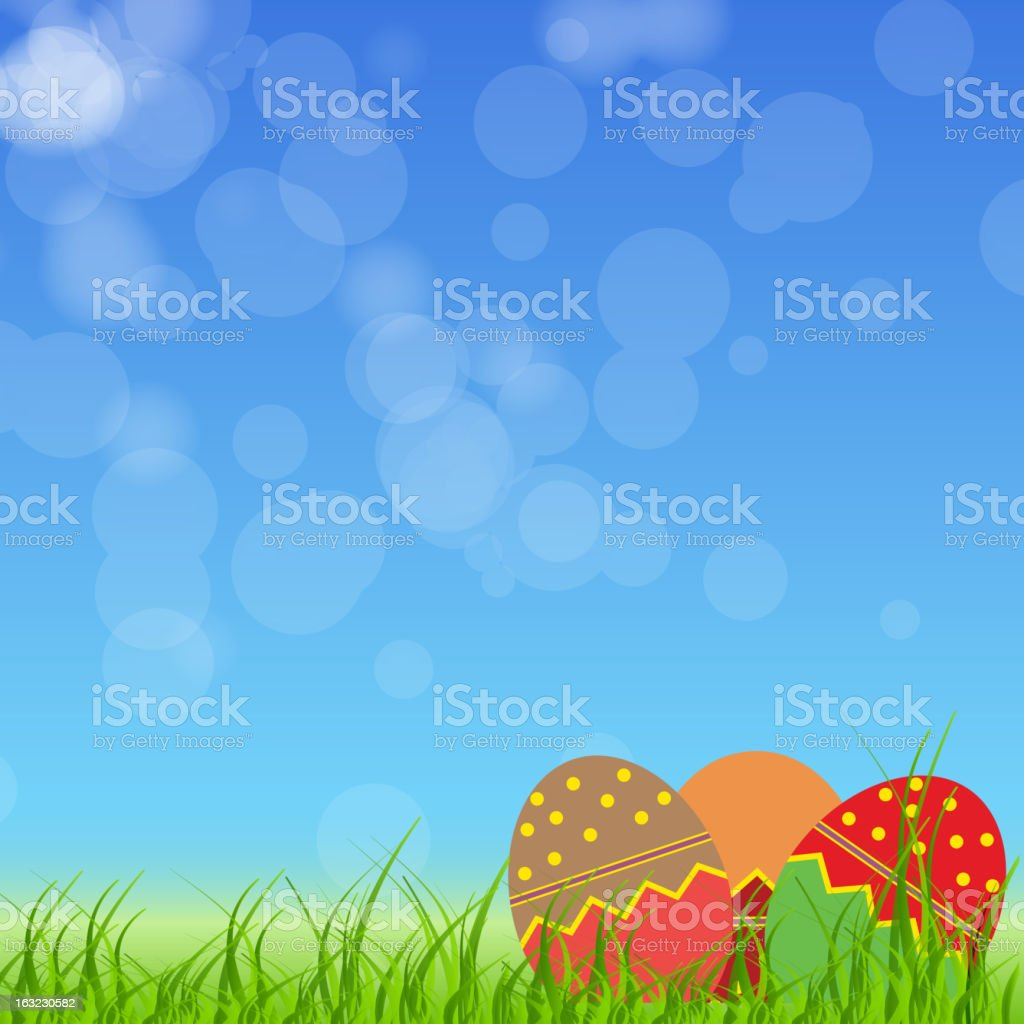 Easter eggs card. vector illustration royalty-free stock vector art
