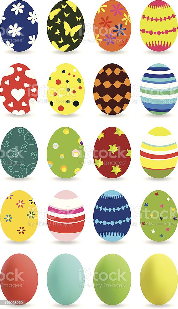 Easter Eggs Collection royalty-free easter eggs collection stock vector art & more images of animal egg