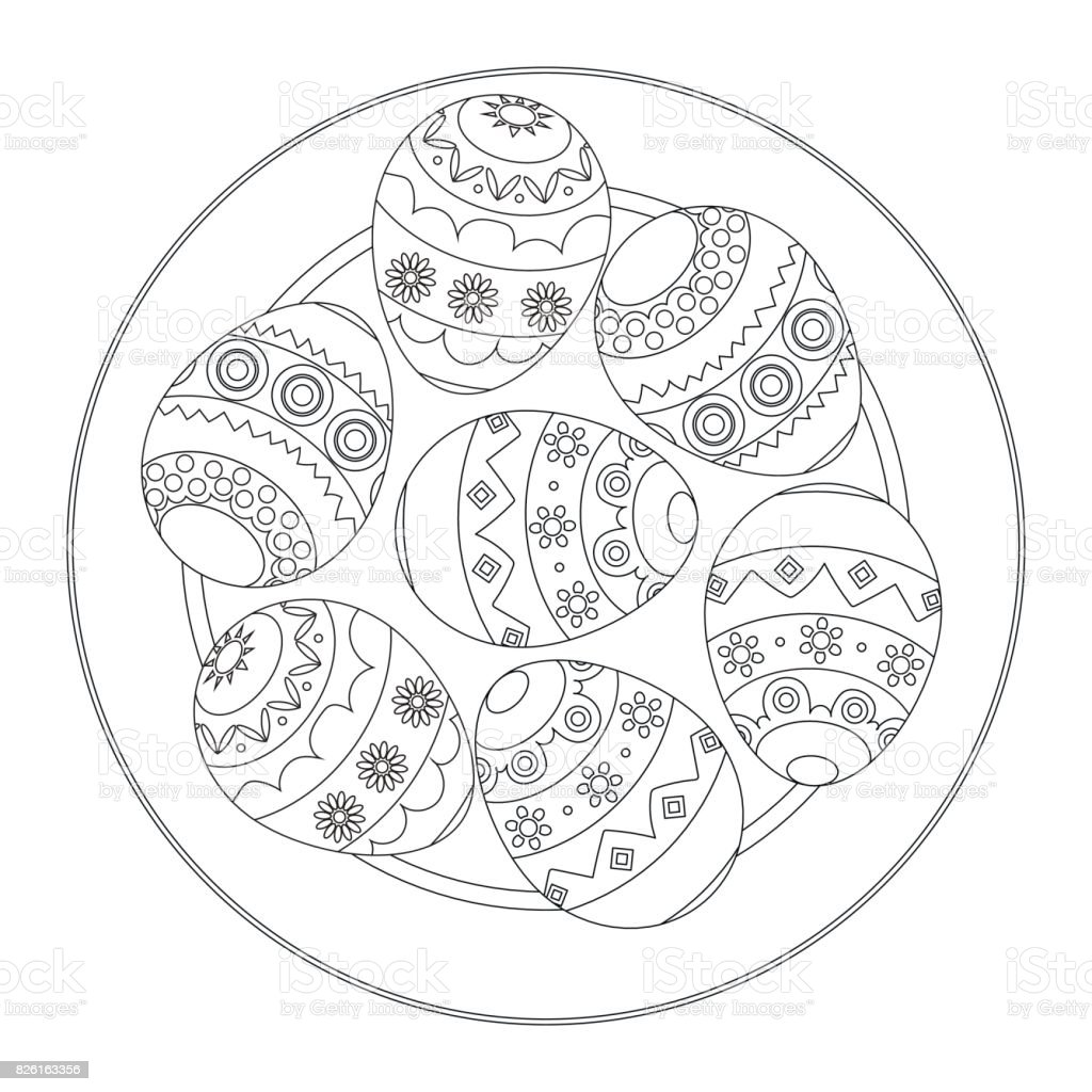 Easter Eggs Coloring Book For Children Stock Illustration - Download Image  Now