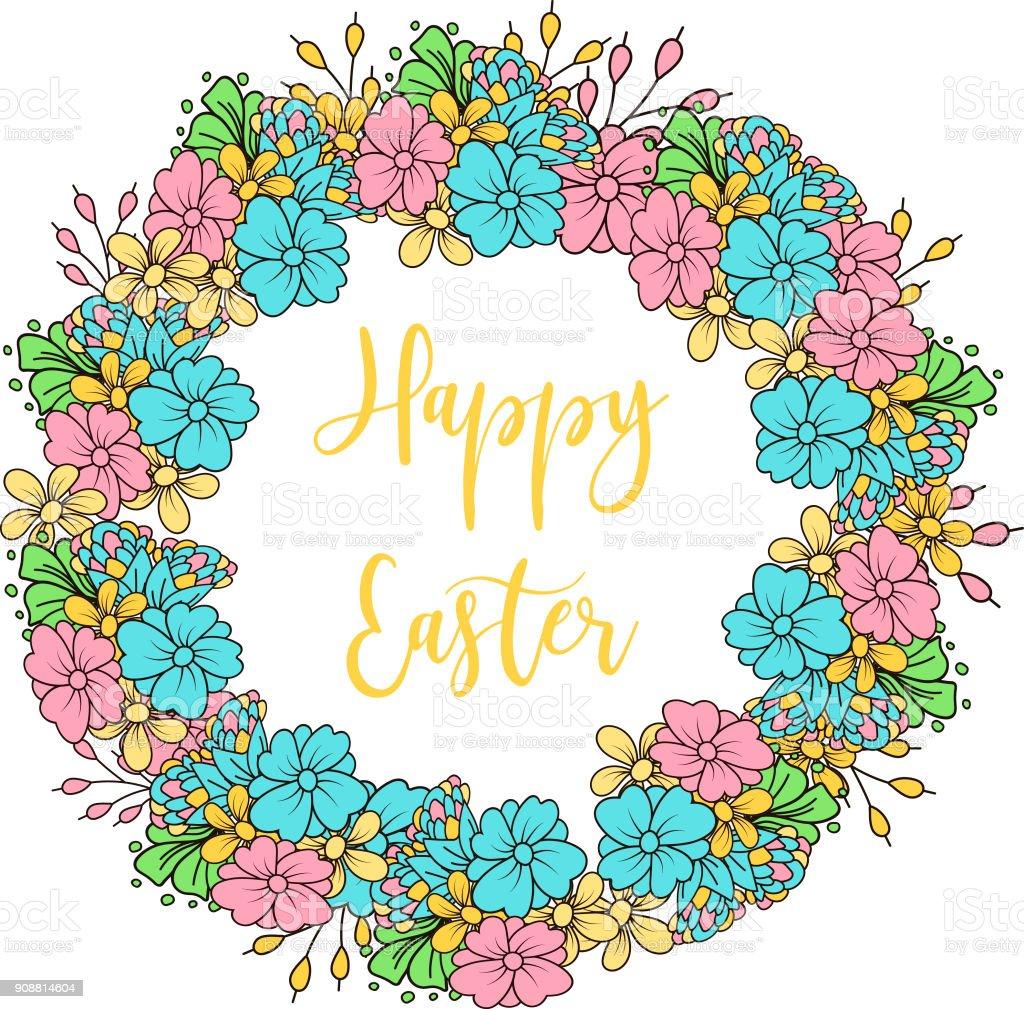 0bcb5f5987d3d Iconos de huevos de Pascua. Ilustración de vector. Semana Santa vacaciones  diseño sobre fondo