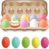 Easter eggs  in Egg Carton.
