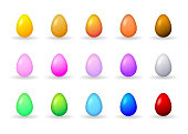 Vector Easter Eggs In Various Colors