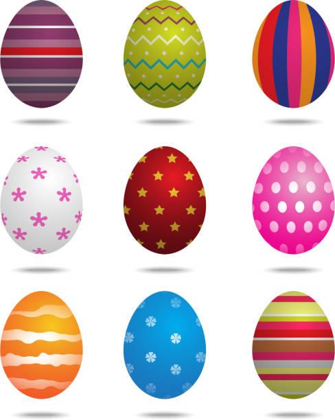 Easter eggs isolated Easter eggs isolated on the white background nu stock illustrations