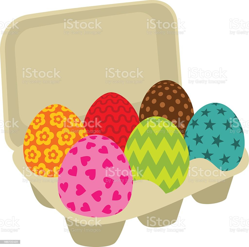 Easter eggs. Painted royalty-free stock vector art