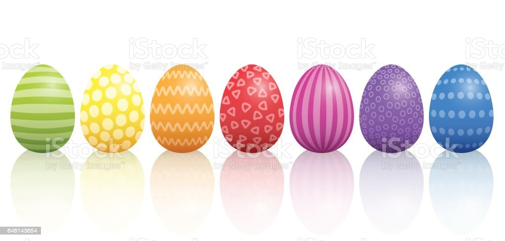 Easter Eggs Pattern Design vector art illustration
