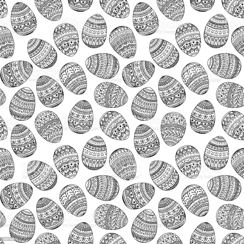 Easter Eggs Seamless Pattern royalty-free easter eggs seamless pattern stock vector art & more images of abstract