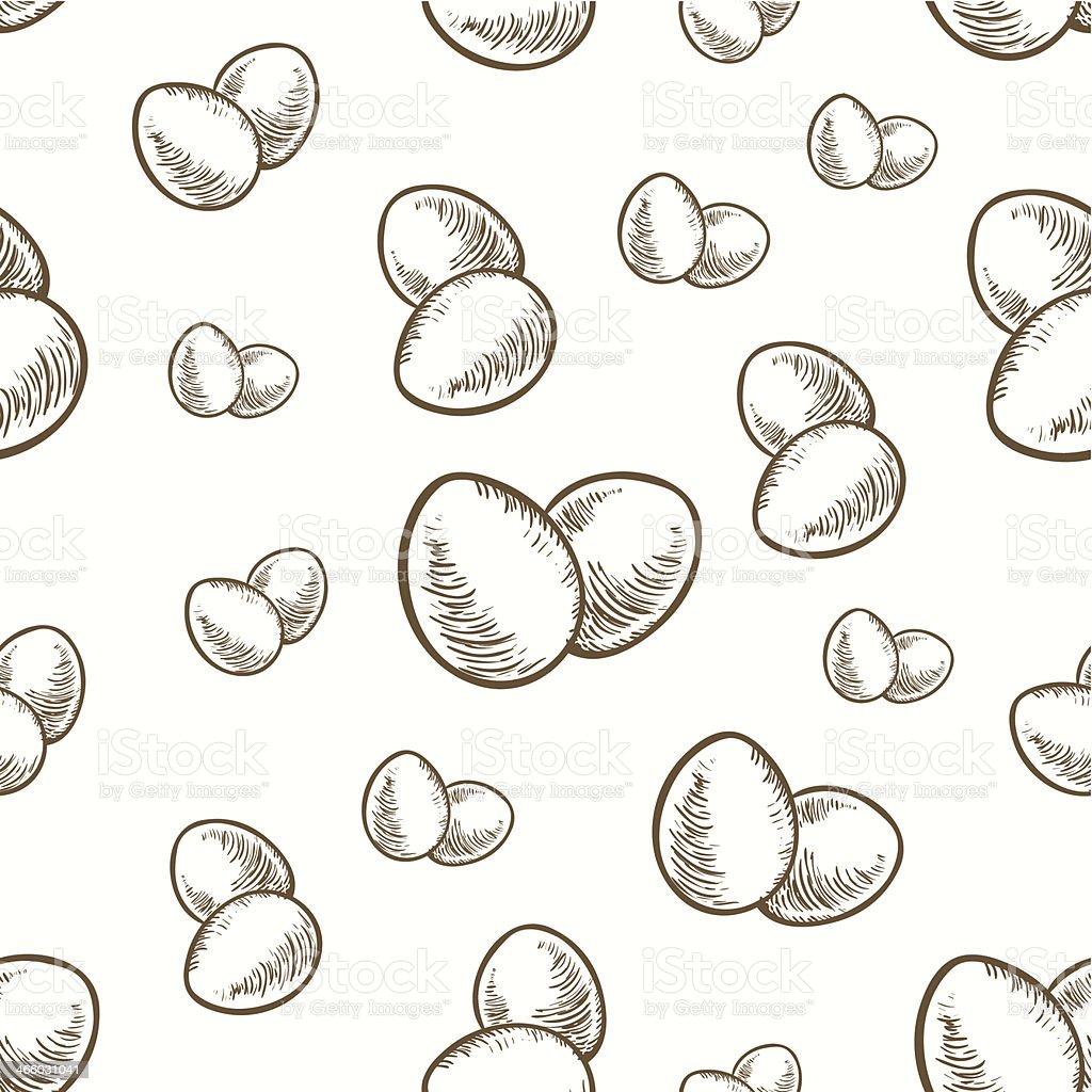 easter eggs seamless texture vector art illustration