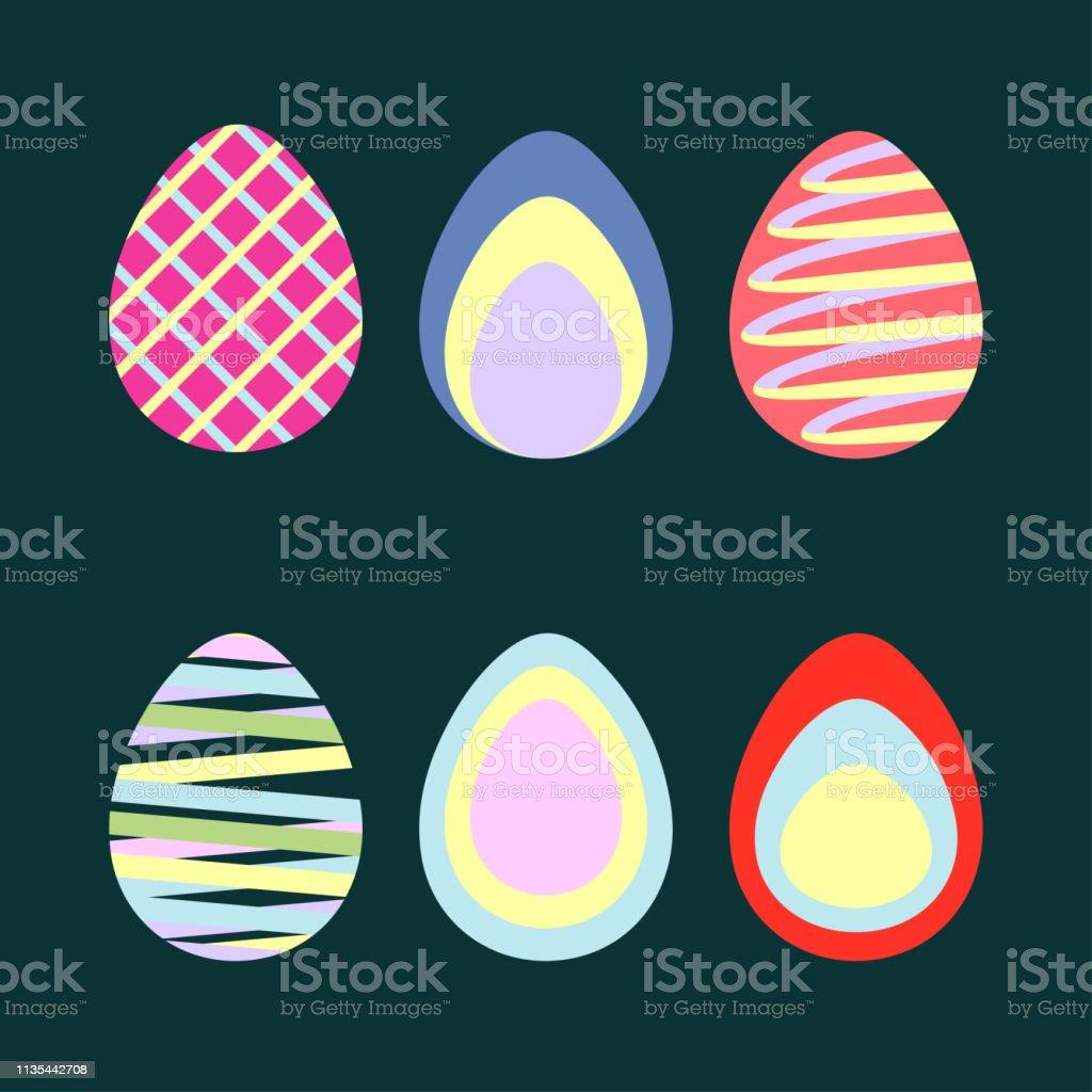 Easter Eggs series vector graphic vector art illustration