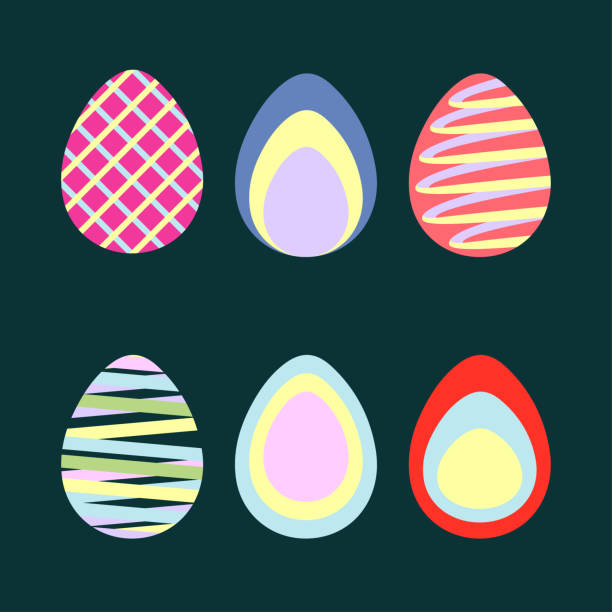 Easter Eggs series vector graphic vector art illustration
