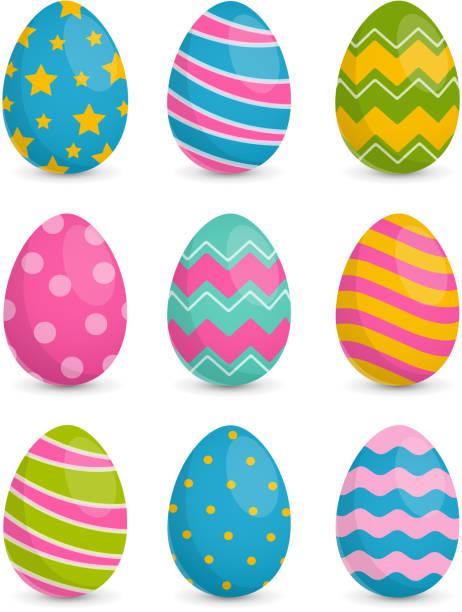 Easter Eggs Colorful Easter Eggs egg stock illustrations