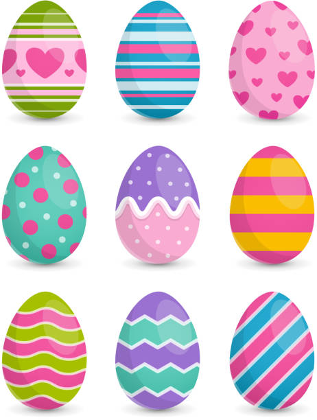 stockillustraties, clipart, cartoons en iconen met paaseieren - egg