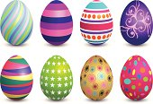 Illustration of Painted Easter Eggs (Pdf(6) and Ai(8) files are included)