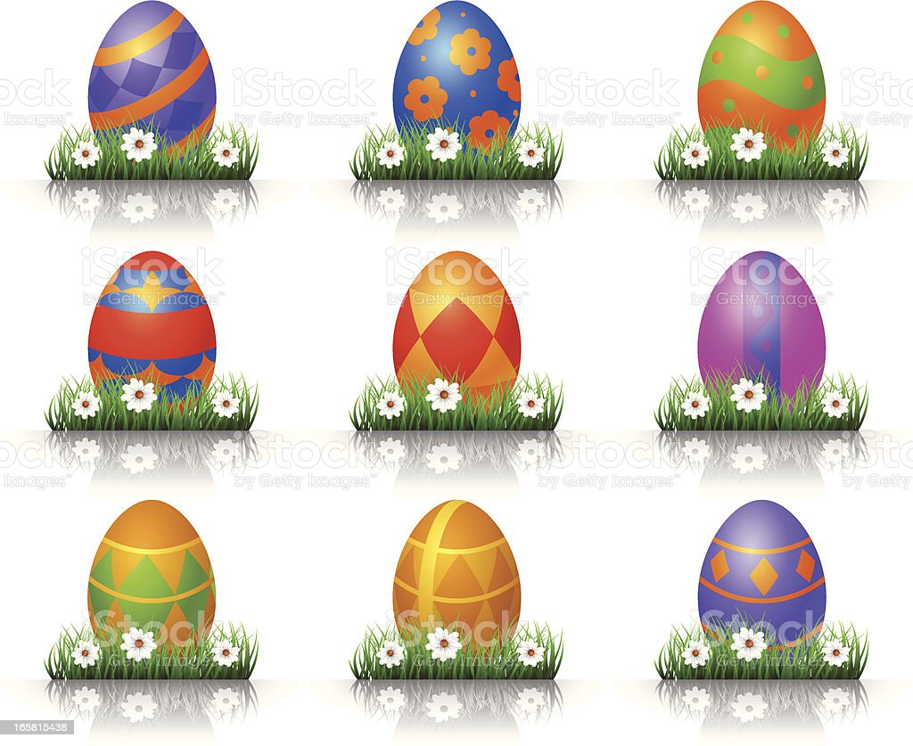 Easter Eggs royalty-free easter eggs stock vector art & more images of animal egg