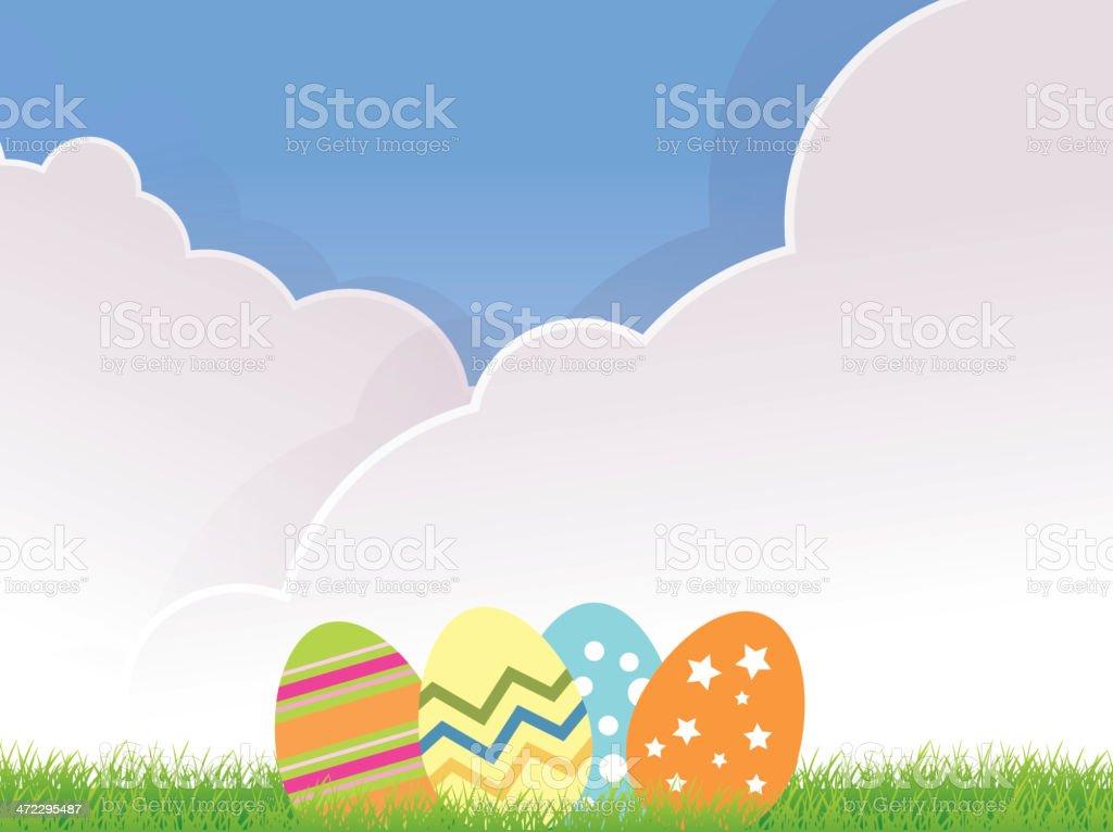 Easter Eggs royalty-free stock vector art