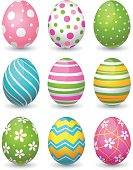 Vector illustration of colorful easter eggs.