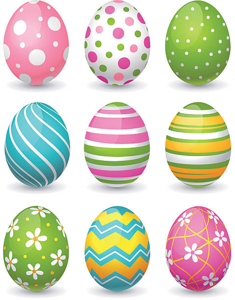 stockillustraties, clipart, cartoons en iconen met easter eggs - egg