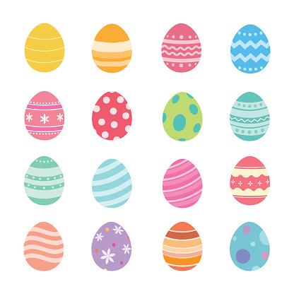 Easter Eggs Stockvectorkunst en meer beelden van April