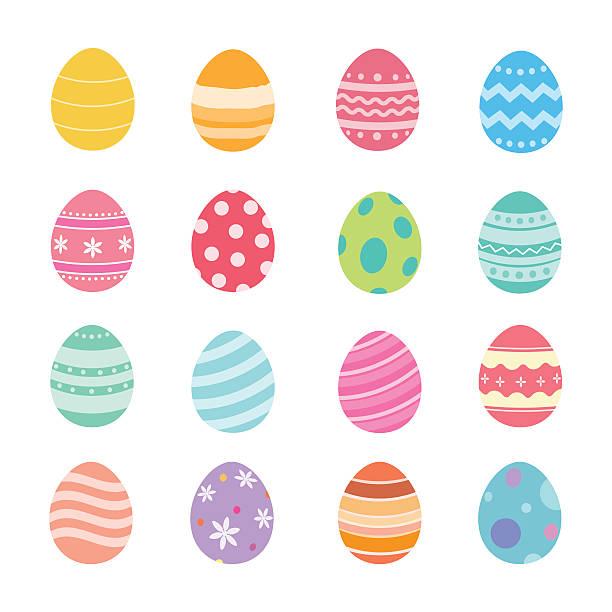 easter eggs. - easter stock illustrations