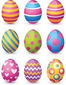 Vector illustration of colorful easter eggs